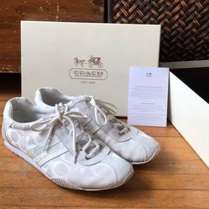 White Coach Tennis Shoes